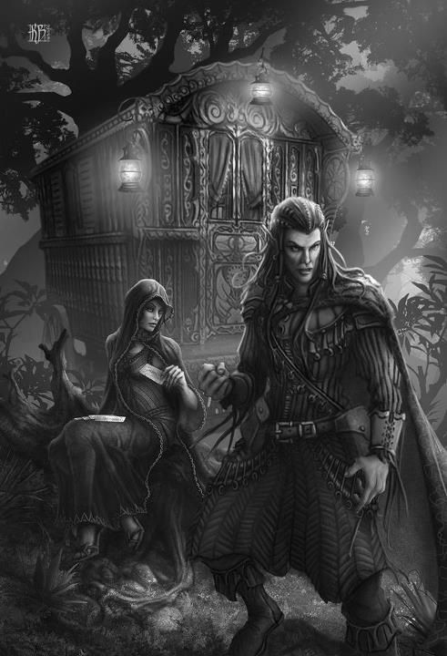 Elves i particularly like the sinister look here its a concept that isn