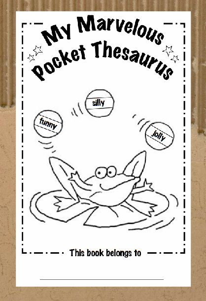 "Awesome printable Thesaurus for students. Students can find ""words to use instead of"" as well filling up pages of their own words."