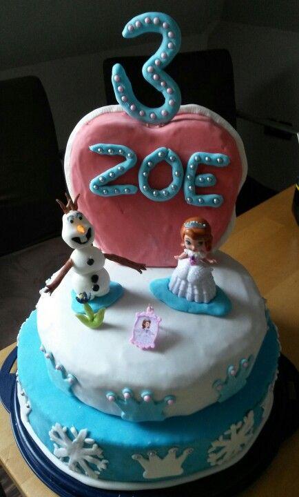 Prinzessin und Eiskönigin Torte