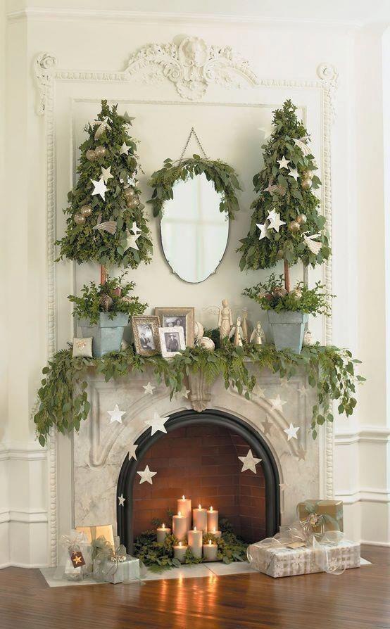 17 mejores ideas sobre decoración de chimenea de navidad en ...