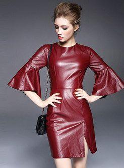 Fashion Patch PU Dress