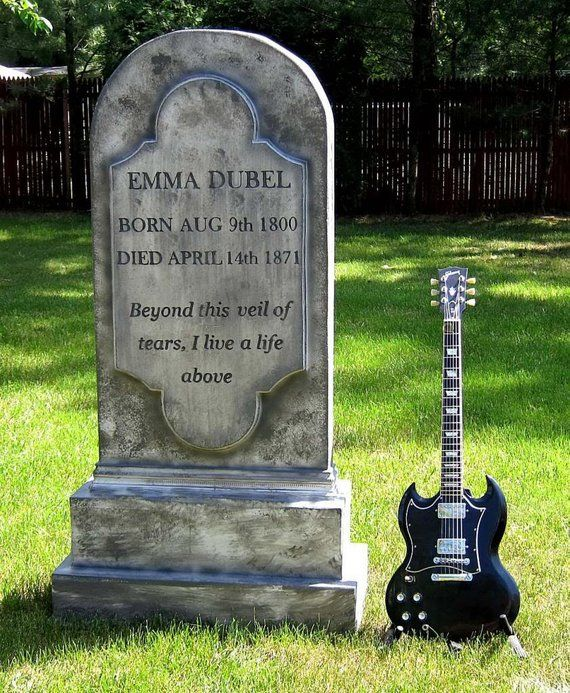 Emma Dubel Tombstone To Scale Cemetery Prop Graveyard