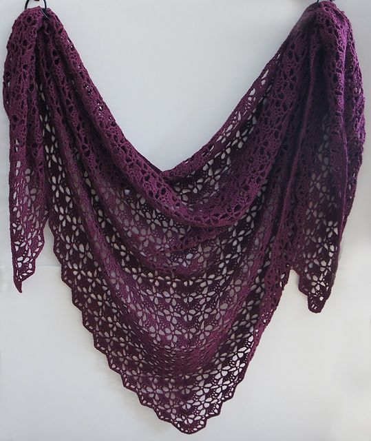 In this color. FREE Ravelry: tearaleaf's Mahogany shawl thanks so xox   ☆ ★  www.pinterest.com...