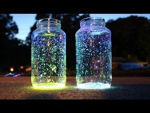 Светящиеся неоновые баночки для новогоднего декора своими руками/Сама Я ...