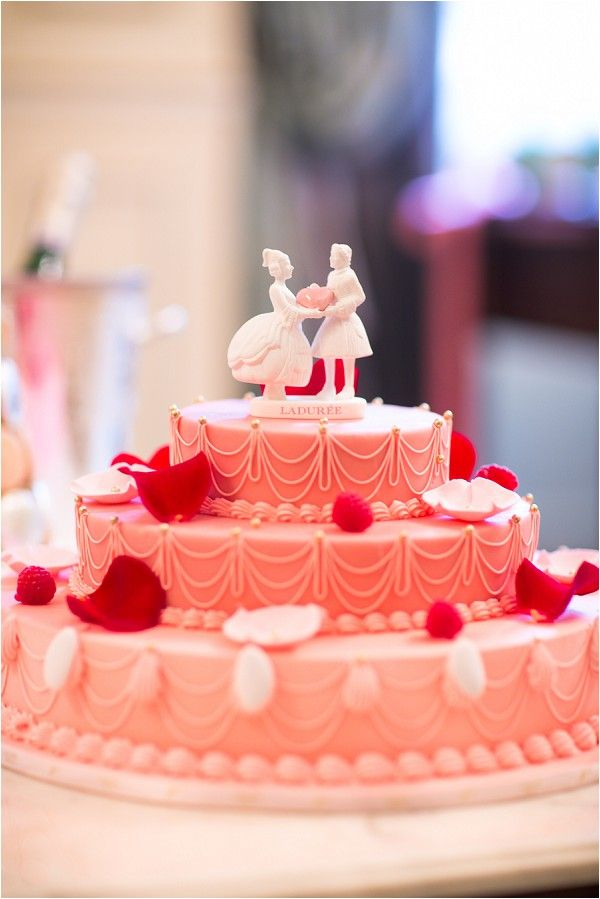 Laduree cake   Image by One and Only Paris Photography, see more http://www.frenchweddingstyle.com/rainy-wedding-day-in-paris/