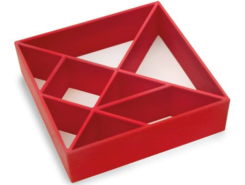 The Konstantin Slawinski Tangram cookie cutter makes a traditional Chinese game out of simple cookies with its seven typical forms.