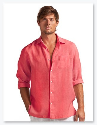 17 best images about men 39 s linen on pinterest long for Coral shirts for guys