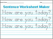 Amazing--type in any letter, word, sentence, etc. Make and print your own customizable handwriting sheet. #handwriting