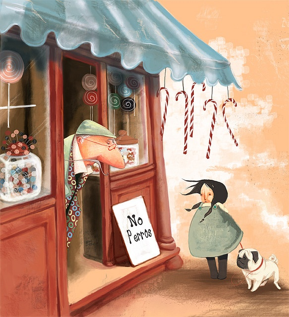 No perros by Daniela Illustration, via Flickr