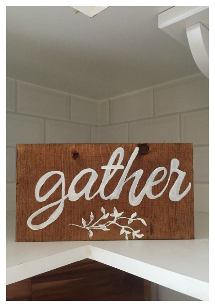 diy gather wood sign