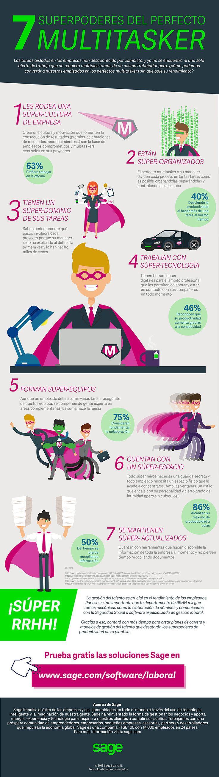 7 superpoderes del perfecto multitasker #infografia