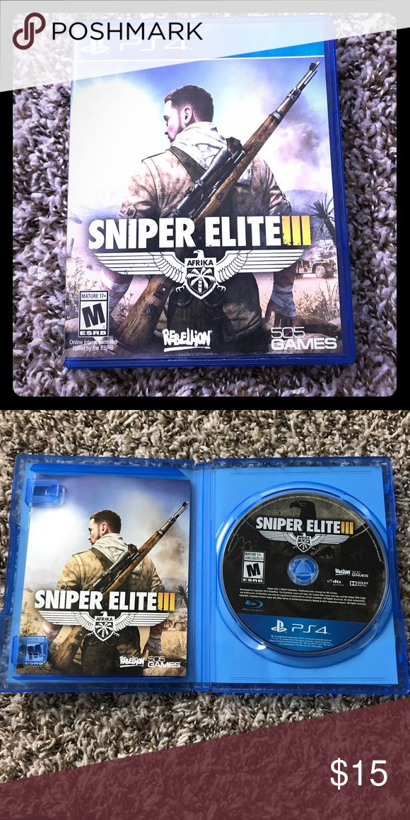 PS4 Sniper Elite III Pre-owned. Great condition. No offers please PS4 Other