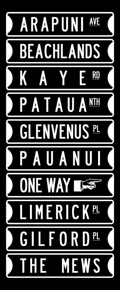 Signpost collection Word Art