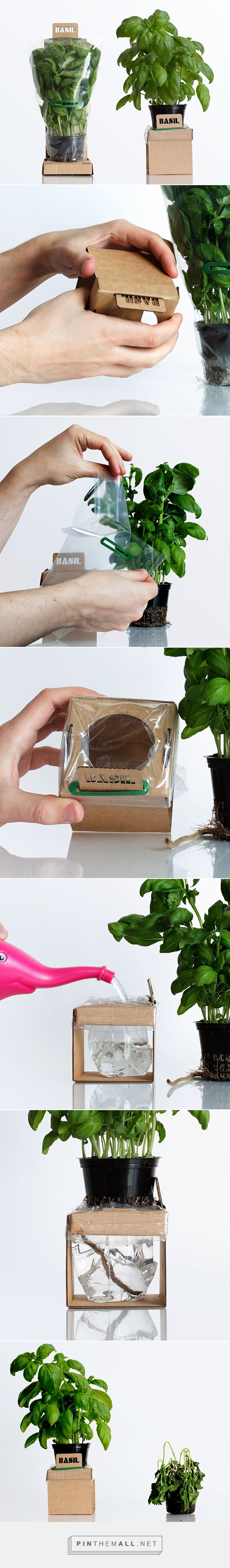 Self-Watering Herbs by Duncan Anderson. Source: Packaging Design Served PD