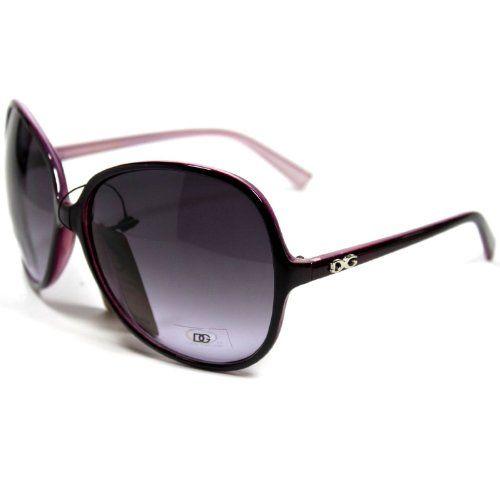 DG26 Style 3 DG Eyewear Designer Vintage Oversized Women's Sunglasses - Plum Color Frame $9.25