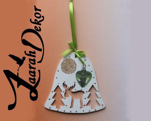 Csengő karácsonyi gömbbel, Zaarah Dekor