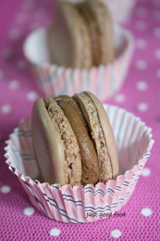 Nur gutes Essen: Macarons mit Nougat
