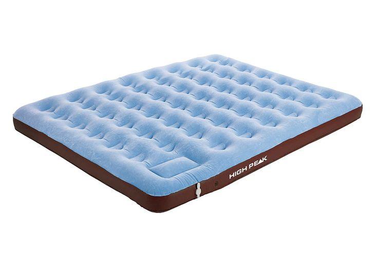 High Peak Luftbett, »King Comfort Plus«. Dieses Luftbett von High Peak inkl. integrierter Fußpumpe lädt zum schlafen und träumen ein! Die Oberseite ist hautsympathisch beflockt. Das Bett ist vielseitig einsetzbar, egal ob als Gästebett oder Campingliege. Dank der patentierten Pumpe ist das Luftbett zudem schnell aufgeblasen!   Details:Beflockte Oberseite, Integrierte Fußpumpe für einfaches und ...