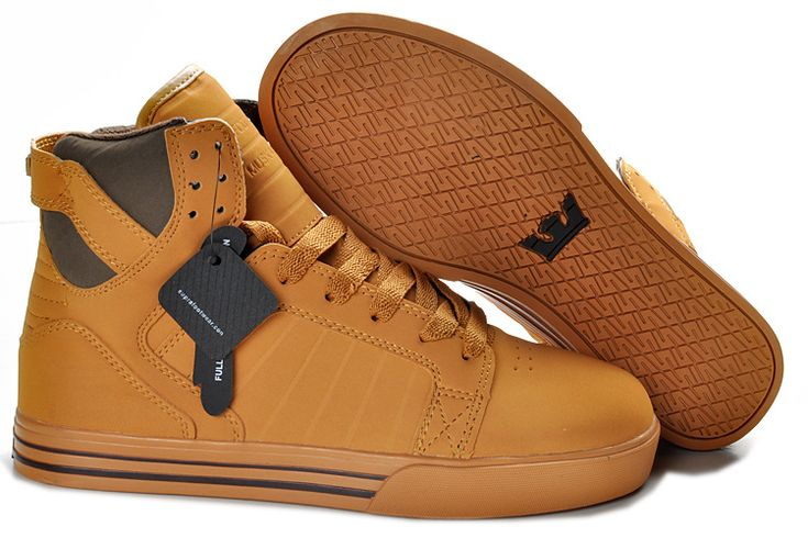 Supra Skytop Wheat Timberland Sneakers For Sale
