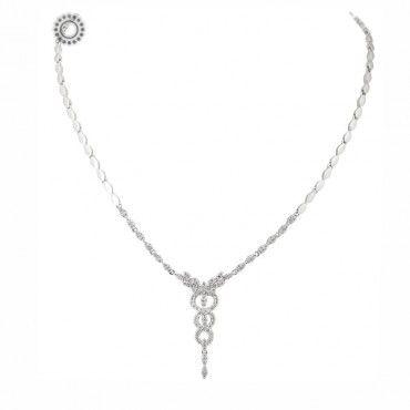 Μοναδικό λευκόχρυσο γυναικείο κολιέ για ιατρούς με τη ράβδο του ασκληπιού (σύμβολο της ιατρικής) από διαμάντια | Κόσμημα ΤΣΑΛΔΑΡΗΣ στο Χαλάνδρι #κηρυκειο #διαμαντια #λευκοχρυσο #κολιε