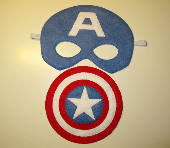 Captain America Mask Shield set Superhero costume for kids