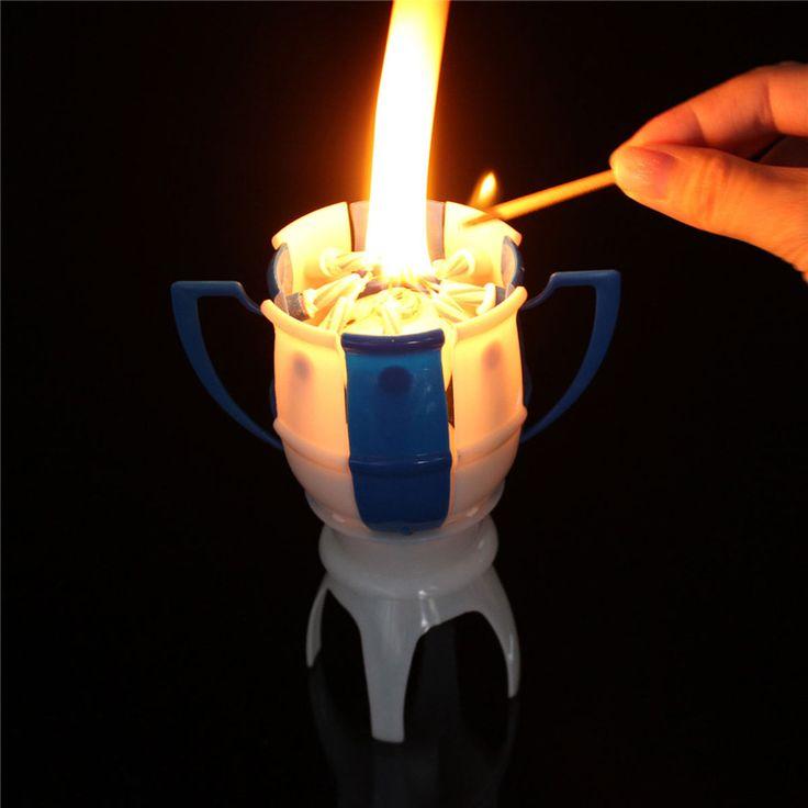 Barato 1 PC cinco cor incrível de plástico e velas romântico de rotação feliz…