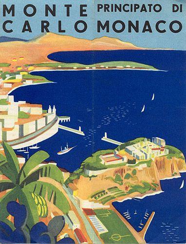 """Travel brochure """"Monte Carlo - Principato di Monaco,"""" circa 1933."""