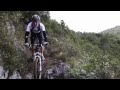 Craziest possible mountain biking video / Three guys ride on tiny paths next to steep rock faces and over narrow wooden bridges. I could only manage watching a minute of this...I almost threw up in fear.