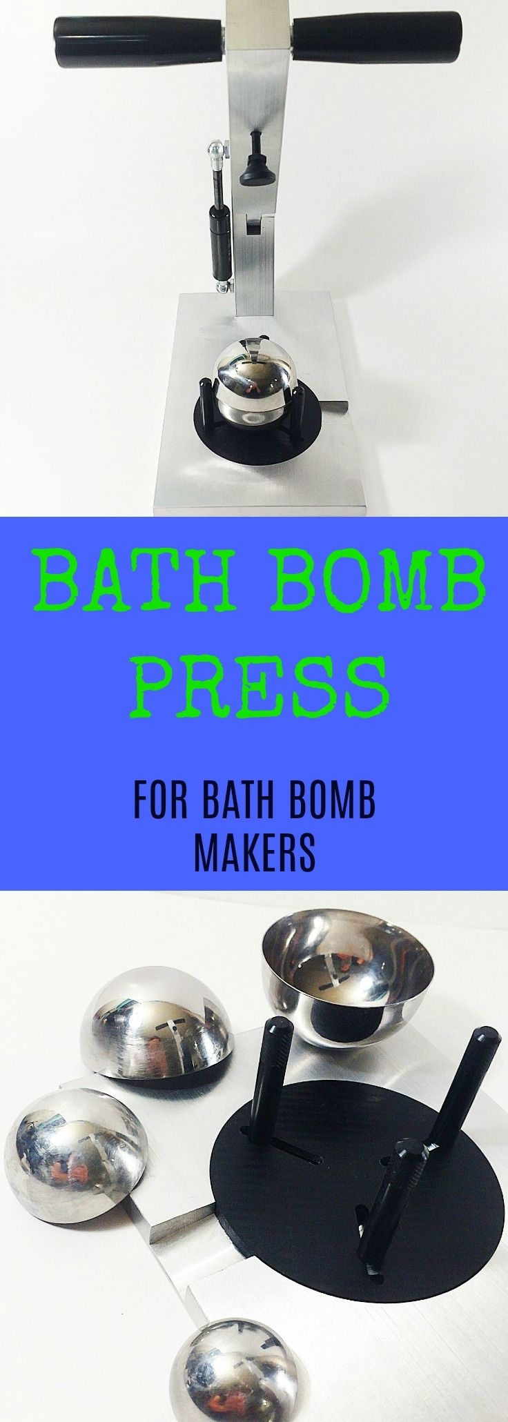 We could not find a bath bomb press on the market that was