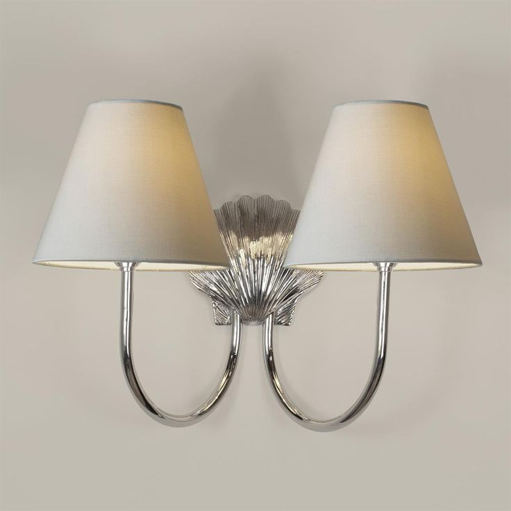 Double Saunton Bathroom Wall Light In Nickel