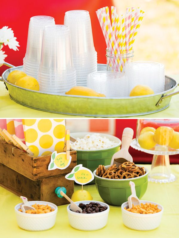 Super Cute Pink & Yellow Lemonade Stand Party