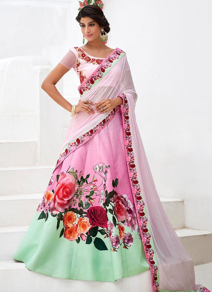 Buy Pink Satin Silk A Line Lehenga online from the wide collection of a-line-lehenga.  This Pink  colored a-line-lehenga in Silk  fabric goes well with any occasion. Shop online Designer a-line-lehenga from cbazaar at the lowest price.