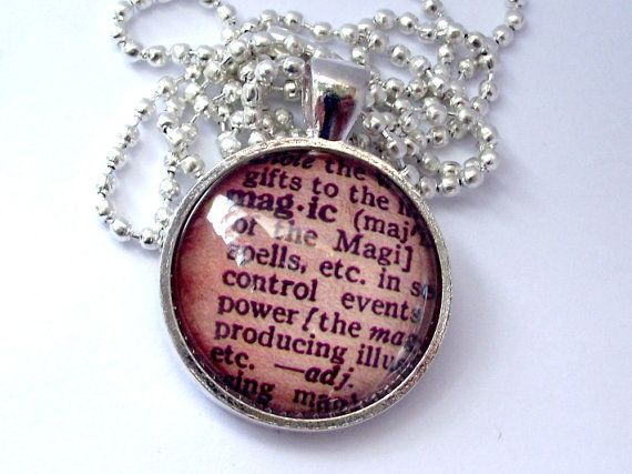 MAGIC dictionary meaning necklace. Vintage by EvasJewellery