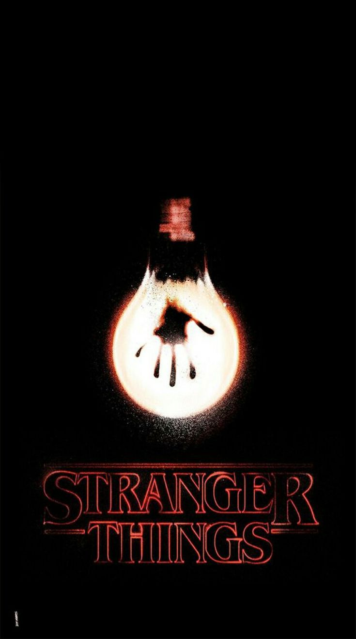 """I really like this design for the mood it projects and the simple imagery along with its typeface. The colours have been manipulated to create an eerie effect. The light bulb looks saturated with a heavy glow. The red from the type is repeated around the bulb to create balance with the image. The grainy texture of the light bulb helps convey its spooky mood and gives it movement, providing emphasis on the idea of """"stranger things."""""""