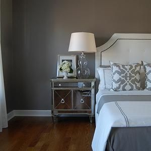 bedrooms - gray bedroom, gray paints, gray paint colors, gray bedroom paint, gray bedroom paint colors, gray walls, gray paint colors, gray bedrooms, gray walls, gray rooms, gray bedroom design, mirrored nightstand, gray paint, gray walls, grey walls, gray paint, grey paint, gray paint color, grey paint color, gray wall paint, grey wall paint, gray bedroom walls, grey bedroom walls, gray bedroom paint, grey bedroom paint, gray bedroom paint color, grey bedroom paint color, barbara barry…