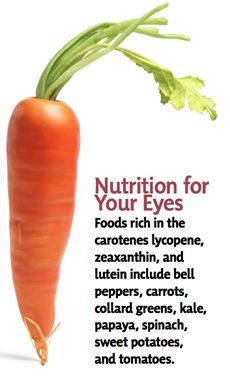Maintaining Healthy Eyes #carrots #bell #peppers #kale #papaya #spinach #carotenes lycopene