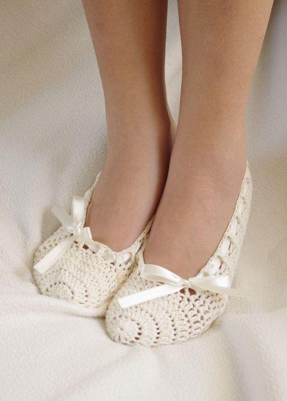 Bridal wedding dance shoes slippers Cream Bridal Party Bridesmaid