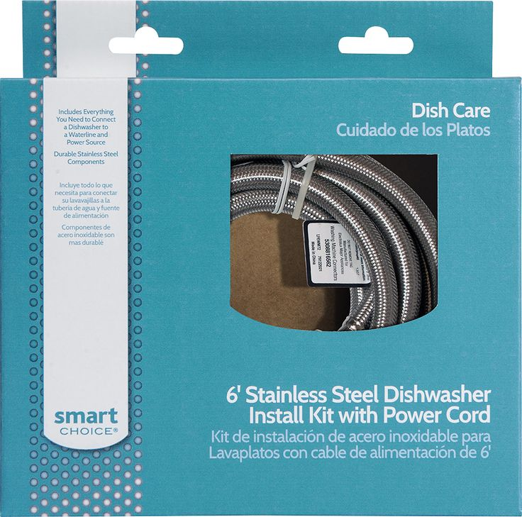 Smart Choice - 6' Deluxe Dishwasher Install Kit - Multi