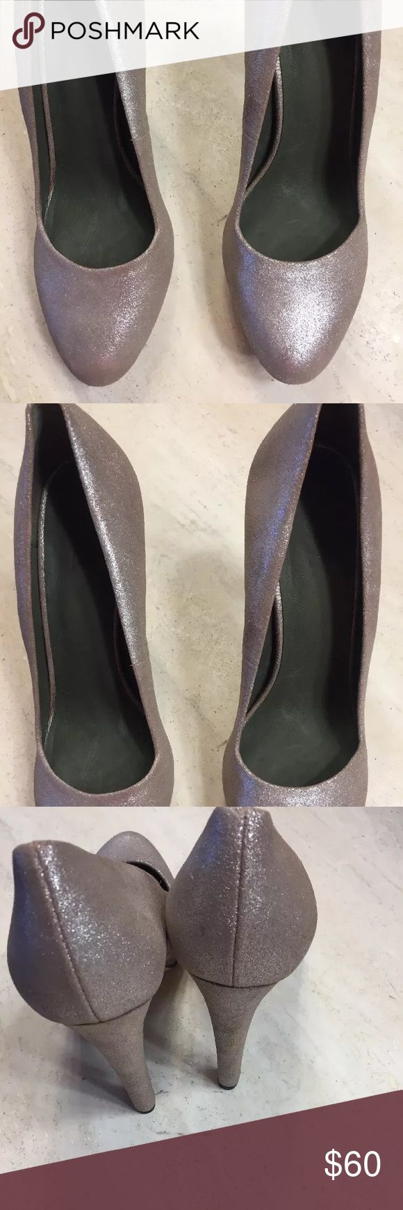 Diesel shoes Up for consideration is a pair of Diesel Dress shoes. These are new. I wore them around the house to determine if they would work for me so they have scuff marks on the sole. They are leather uppers and leather soles. Cost was over $200 originally. They closed toe/heel dress heels. Diesel Shoes Heels
