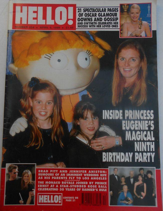 HELLO magazine n. 554 Apr 1999 - Fergie