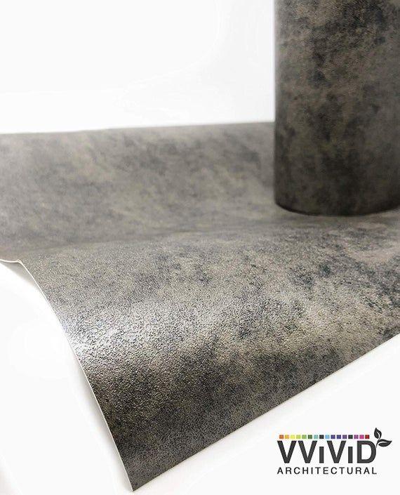 Best Dark Grey Concrete Adhesive Vinyl Wrap 16 X 6 5Ft Self 640 x 480