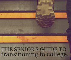 The Senior's Guide to Transitioning to College. - Mostly Morgan