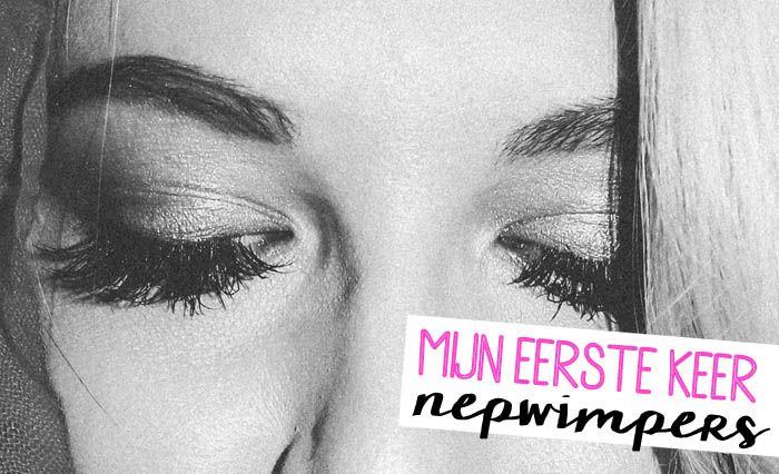 Eens moet de eerste keer zijn; nepwimpers! Een gepriegel natuurlijk... Wat ik (en mijn vriend!) er van vond lees je op www.insideandout.nl! - blog, beauty, lashes, make-up