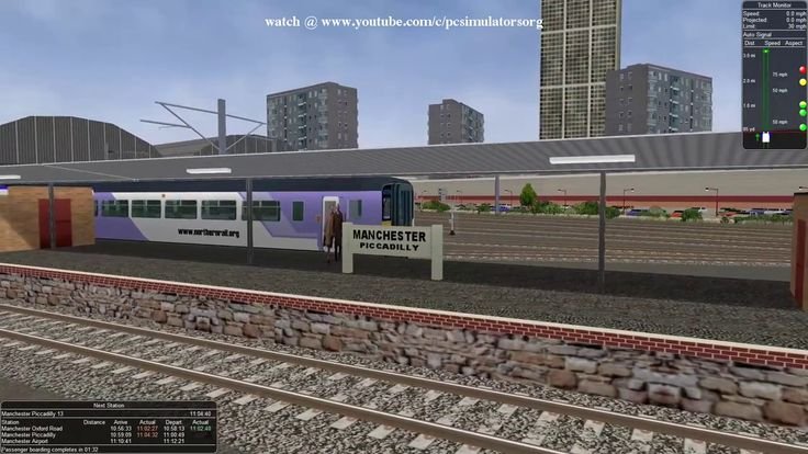 Open Rails Free Train Simulation at Manchester Airport