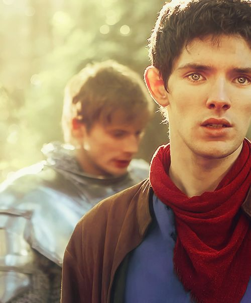 Merlin x Arthur ...Ahhhhh!!!!! His eyes... Gosh, they're so adorable. I love that show!!!!!!!!!! :)