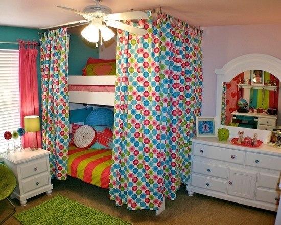 Cortina decoracion cortinas para literas cama con cortinas y dormitorios de ni os peque os - Decoracion cortinas dormitorio ...