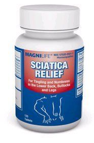 MagniLife Sciatica Relief Tablets by Sciatica Refief. $19.34. MagniLife Sciatica Relief Tablets   Sciatica Relief helps relieve symptoms of Sciatica, such as burning and tingling sensations in the lower back and legs. There are no side effects, and it will not interfere with other medications. Tablets dissolve under the tongue.   125 tablets per bottle.   Ingredients and Purpose   Active Ingredients - Gnaphalium Polycephalum - for numbness and pain due to Sciatica; Colo...