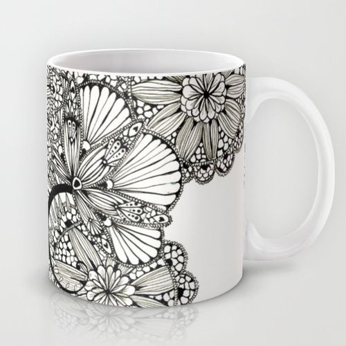 lace inspired Mug by Alisa Burke | Society6