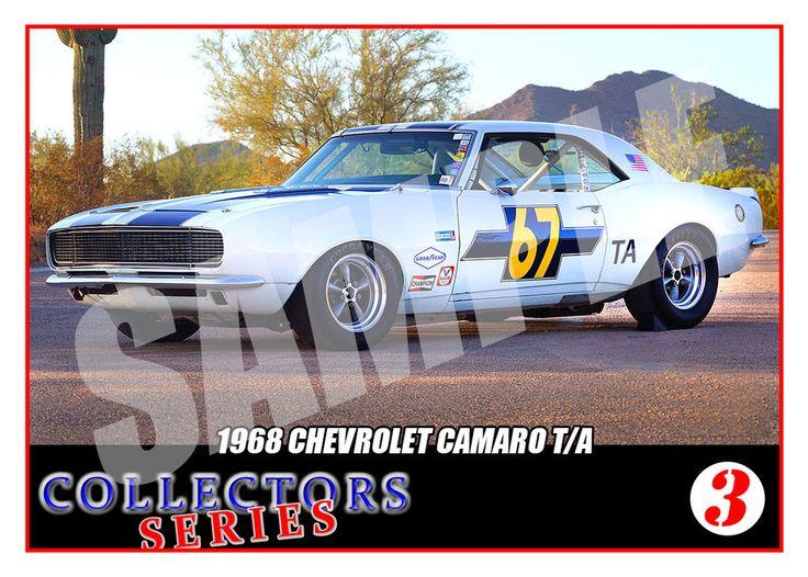 1968 Chevrolet Camaro #67 Trading Card- SCCA Racing Trans Am - Collectors Series | eBay
