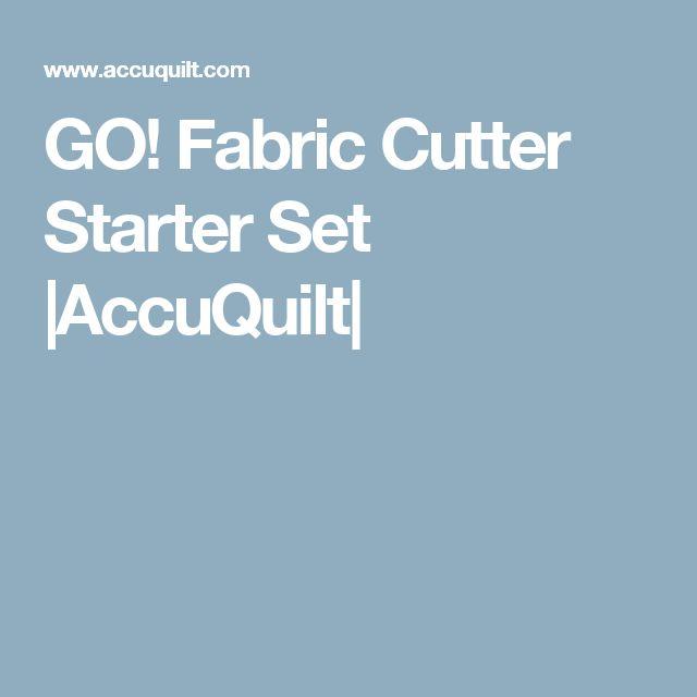 GO! Fabric Cutter Starter Set |AccuQuilt|
